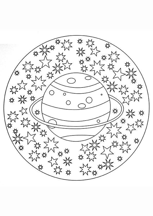 Planeten kleurplaat - Google zoeken Mandalas for kids