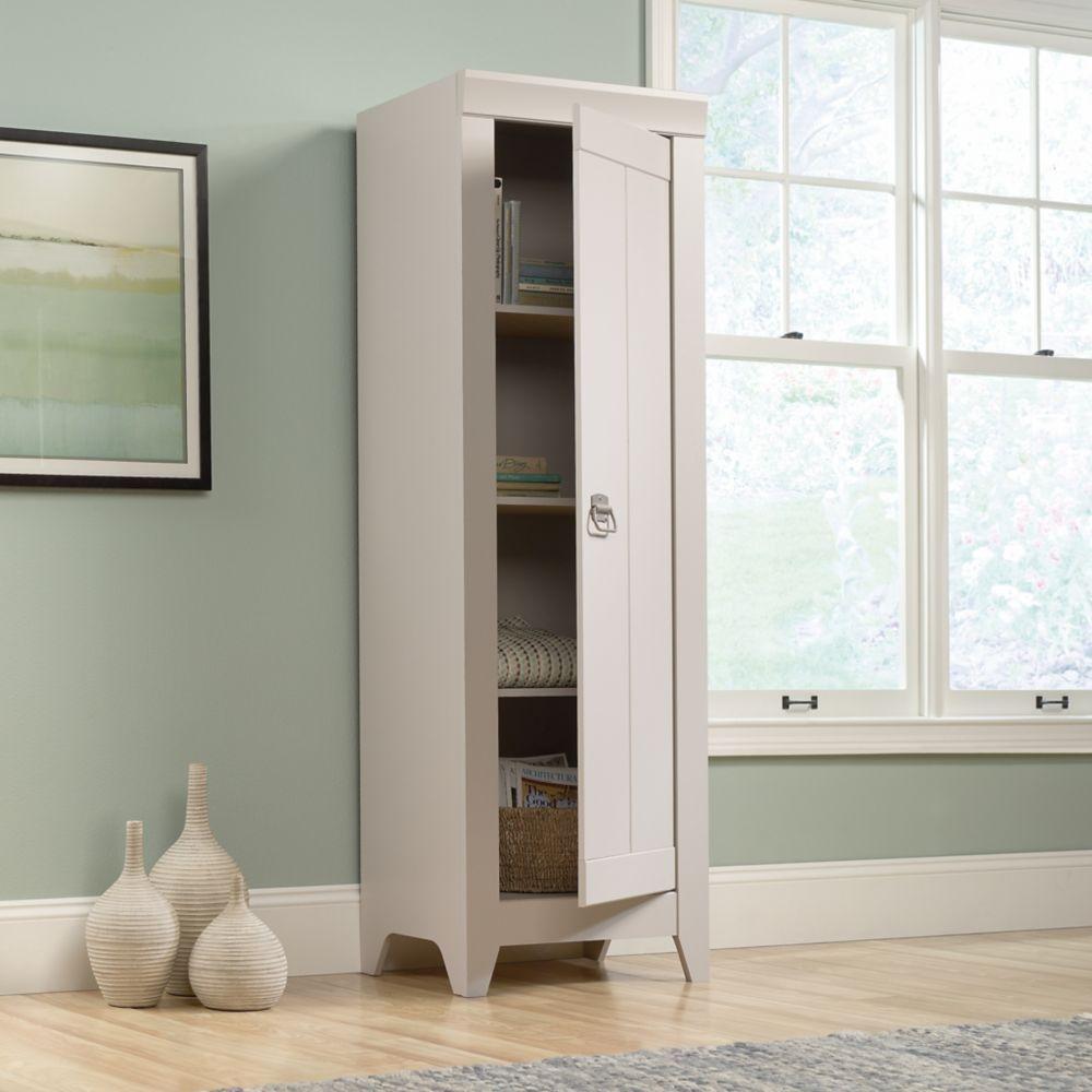 Adept Narrow Storage Cabinet In A Cobblestone Finish