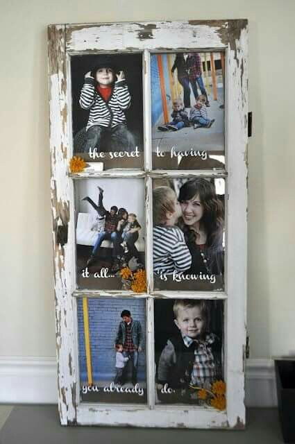 Such a great idea to recycle an old window from do it yourself such a great idea to recycle an old window from do it yourself decorating ideas on facebook vinyl ideas pinterest window decorating and facebook solutioingenieria Images