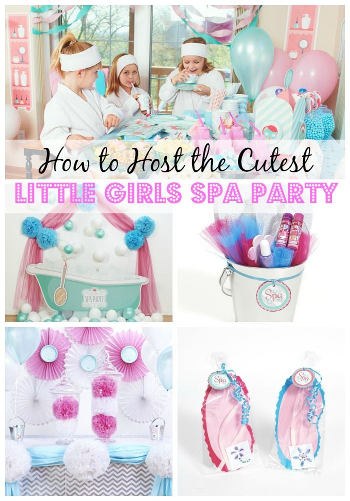 from the cupcakes and table decor to the party favors and activities this little girls spa birthday party is the perfect birthday theme for fun and