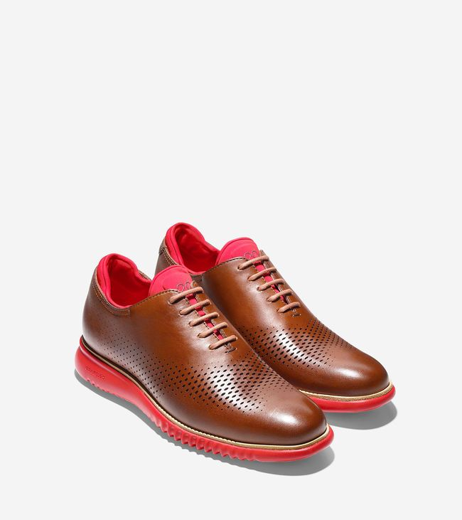 Cole Haan 2.Zerogrand Laser Oxford - Brown/Red colorway