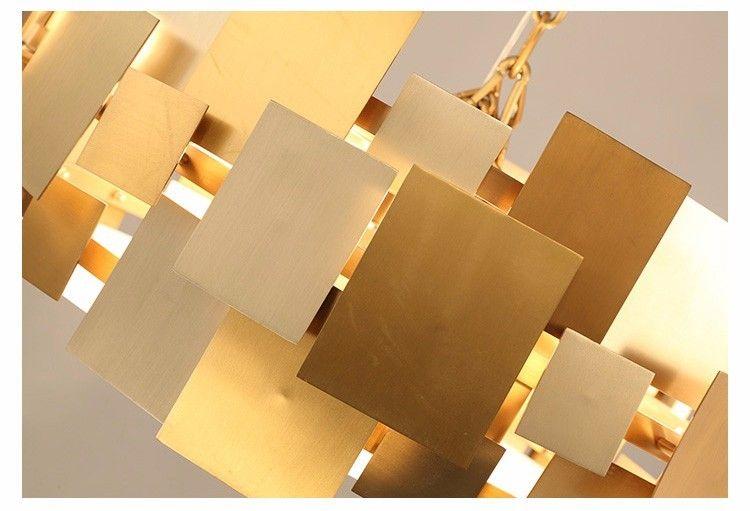 Photo of E27 holder rotatable stainless steel Golde pendant lamp for restaurant and hotel