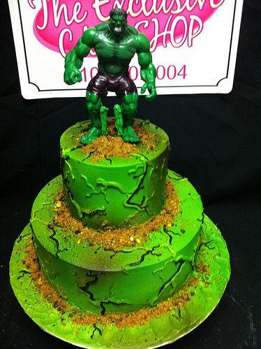 Hulk Themed Cake Hulk Cakes marvel Pinterest Hulk cakes