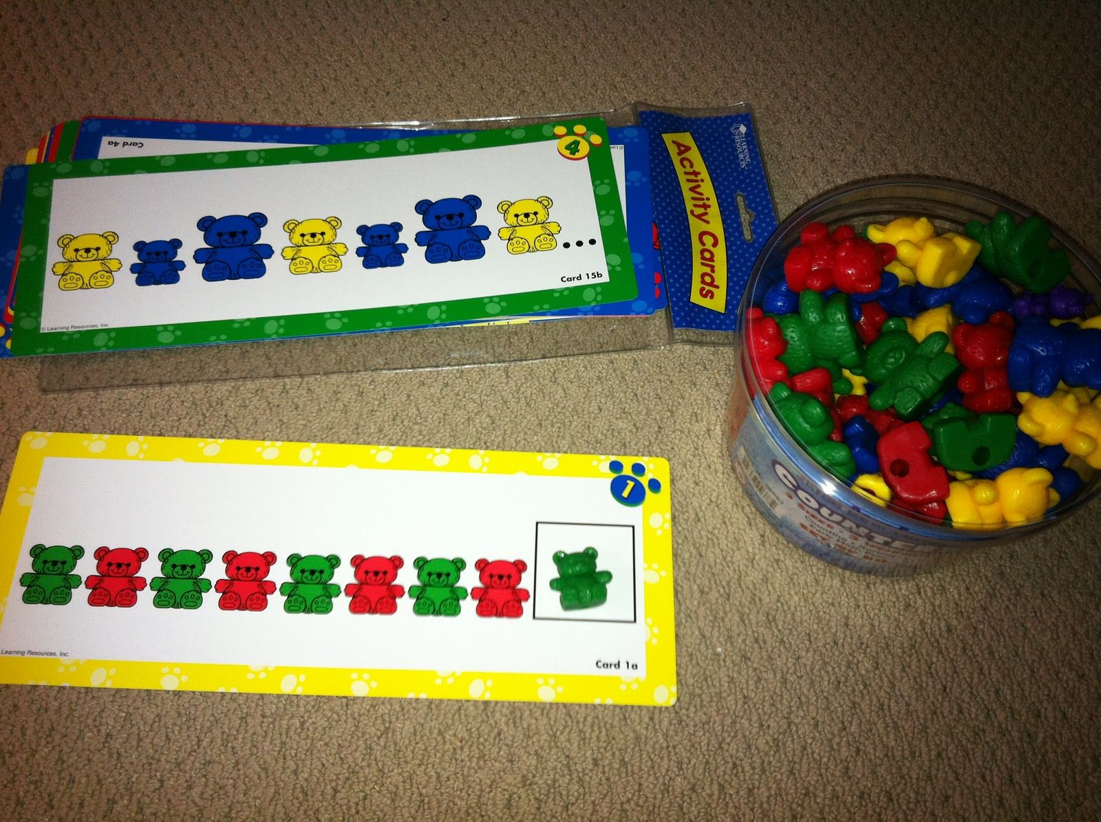 Complete The Pattern With Counting Bears