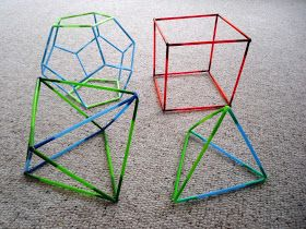 3d straw shapes