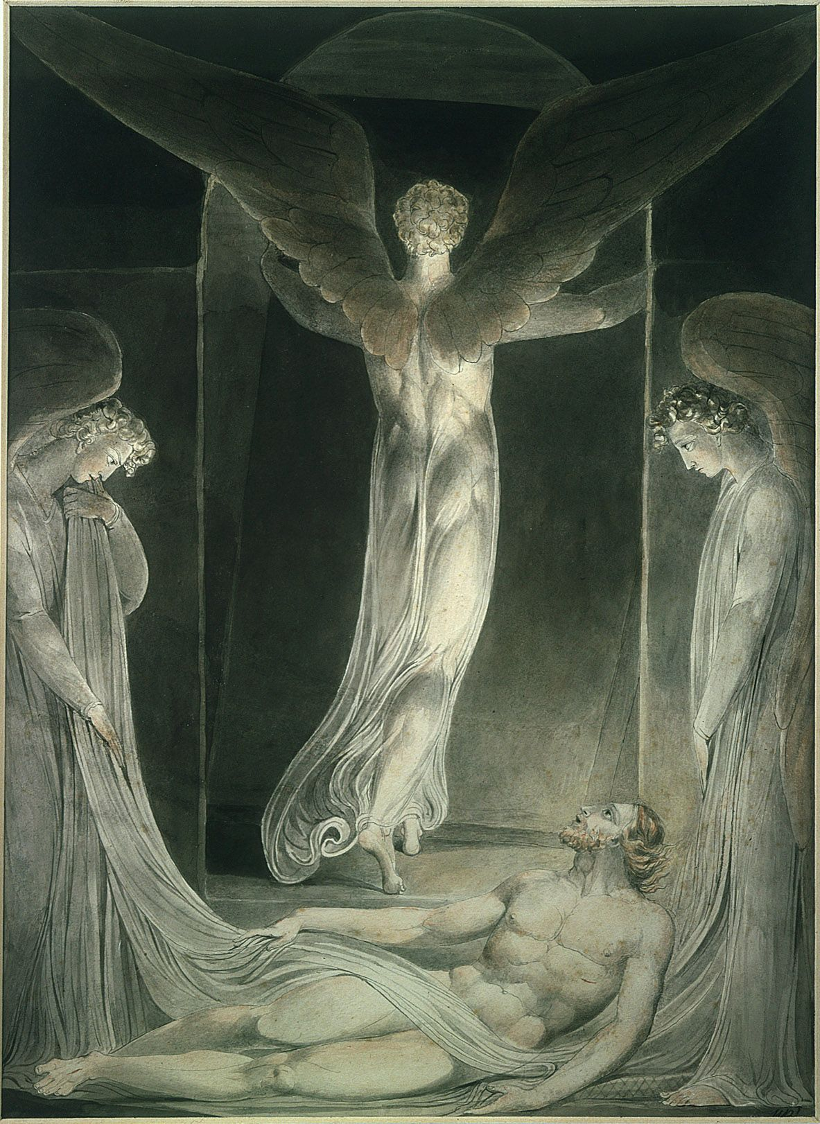 william blake ldquo the angel rolling the stone away rdquo c  william blake ldquothe angel rolling the stone away rdquo c