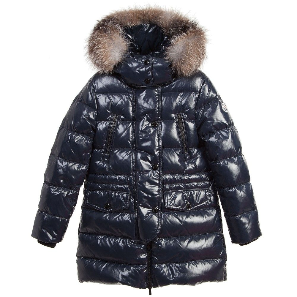 842c799a9 Girls Navy Blue  Fragon  Down Padded Coat