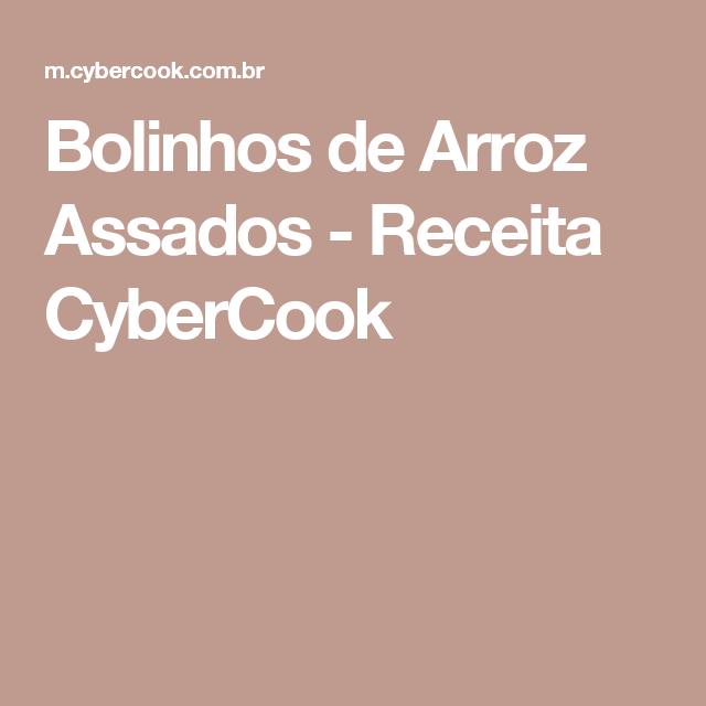 Bolinhos de Arroz Assados - Receita CyberCook