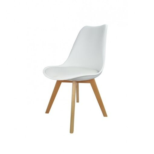 The White Latino Dining Chair Is Another New Addition To MDM Furniture.  This Chair Comes