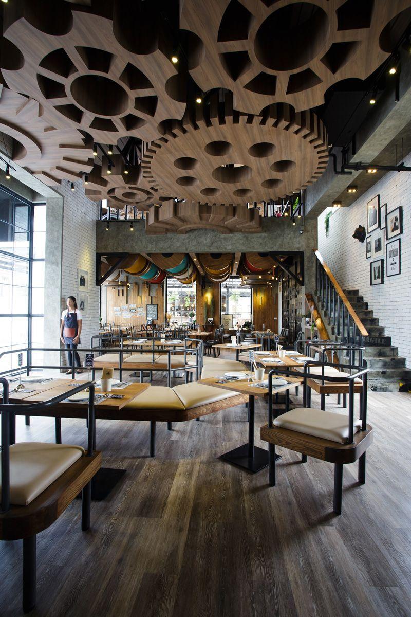 attractive ideas steampunk furniture. steampunktendencies  Villa De Bear a restaurant in Bangkok where the design is based around idea of European teddy bear factory Restaurants With Striking Ceiling Designs Ceilings
