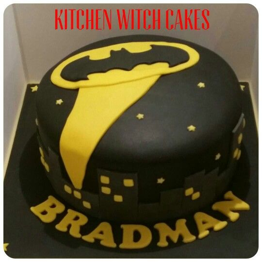 Na na na na BRADMAN! Batman themed cake for a friends birthday