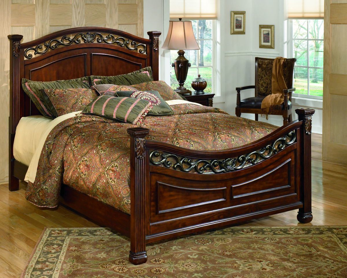 want that instant heirloom effect the leahlyn queen panel bed will