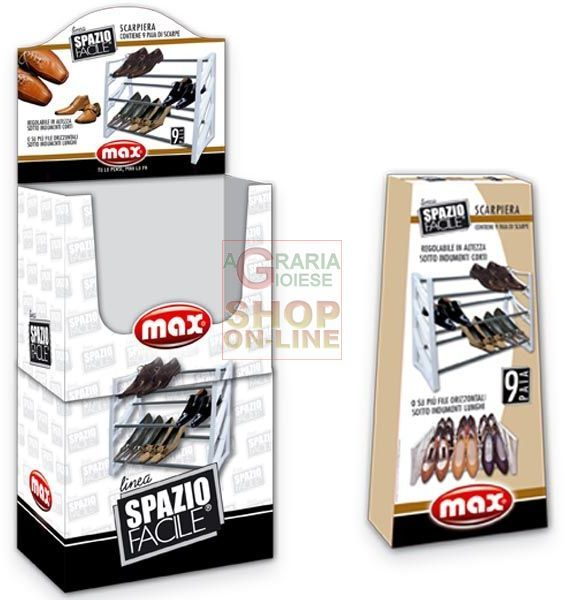 MAX SCARPIERA  9 POSTI IN PALLBOX https://www.chiaradecaria.it/it/max/12019-max-scarpiera-9-posti-in-pallbox-8017365015091.html