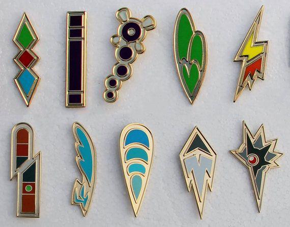 Pokemon Badges from the Unova region by PokemonBadges on Etsy, $45.00