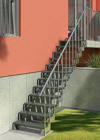 Außentreppe Stahl aussentreppe stahl bausatz treppen mit 12 stufen büro