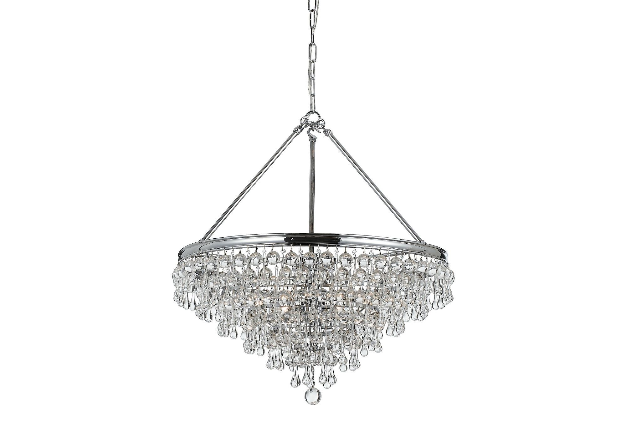 A Glam Modern Take On The Existing Foyer Chandelier One Kings