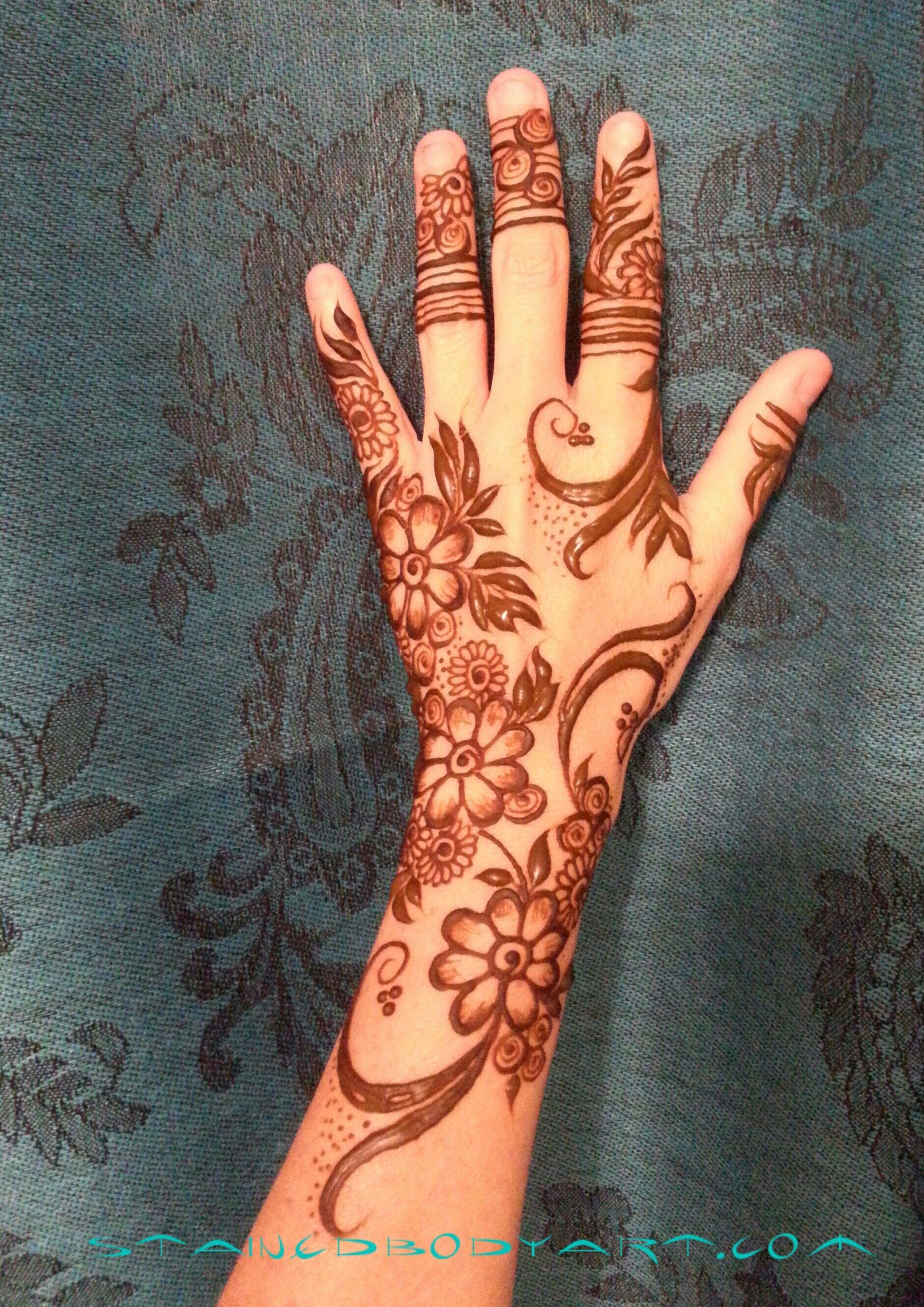 Gulf / khaleeji style henna / mehndi girly 7enna