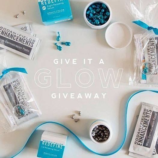 ⭐️⭐️Give it a Glow Giveaway⭐️⭐️ Give your skin a glow with Rodan+Fields Enhancements Micro-Dermabrasion Paste, Redefine Night Renewing Serum and Redefine Lip Renewing Serum.  Message me to receive this FREE mini facial. No purchase required.