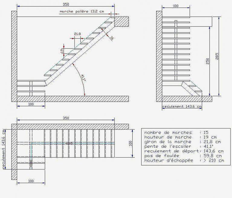 Calcul Escalier 2 Quart Tournant Avec Palier Impressionnant