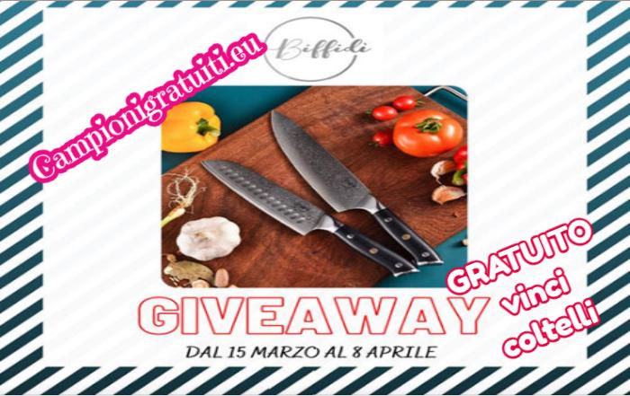 Giveaway Biffidi vinci set di coltelli da cucina professionale