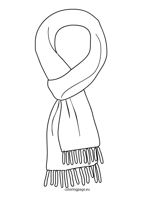 Winter Coloring Page Kids Winter Outfits Winter Crafts Clothes Crafts
