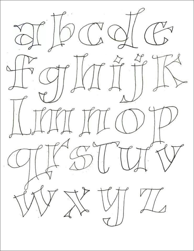 pinnick's knacks on letters | kalligrafie, alfabet, lettertype