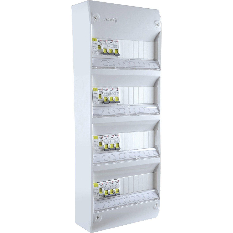 Tableau Electrique Equipe Et Precable Lexman 4 Rangees 52 Modules Tableau Electrique Electrique Et Tableau