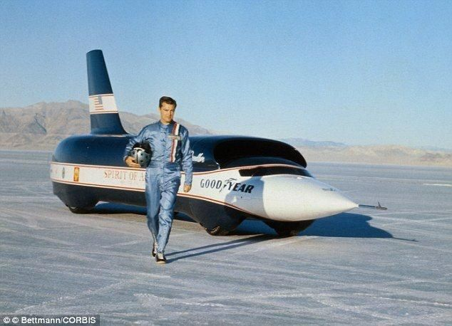"Craig Breedlove set a world land speed record, in his jet car ""Spirit of America"" October 15th, 1964 with a two-way average speed of 526. Description from pinterest.com. I searched for this on bing.com/images"