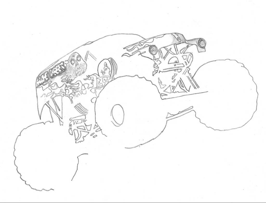 monster jam coloring pages of grave digger viddress - Grave Digger Truck Coloring Pages