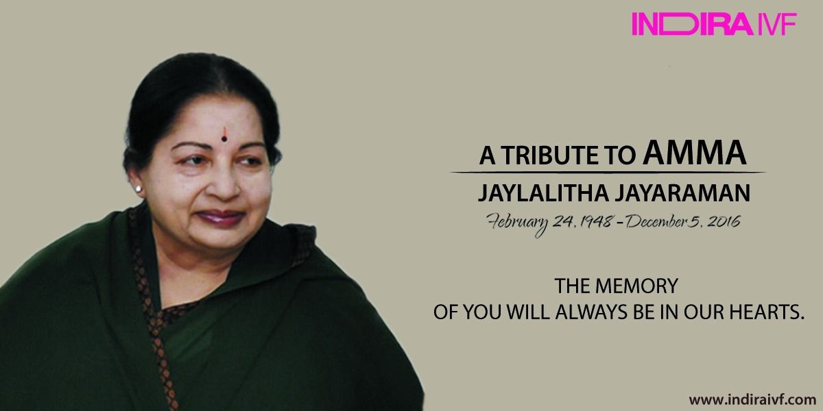 Words may not suffice to express the heartfelt sorrow that we feel for the passing of J. Jayalalitha Ji. Deepest condolences to the family & supporters across the Nation. #jaylalitha #amma #sorrow #rip #nation #condolence #indiraivf