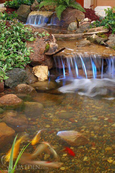 Pretty waterfall design for koi pond bassin cascade Pinterest