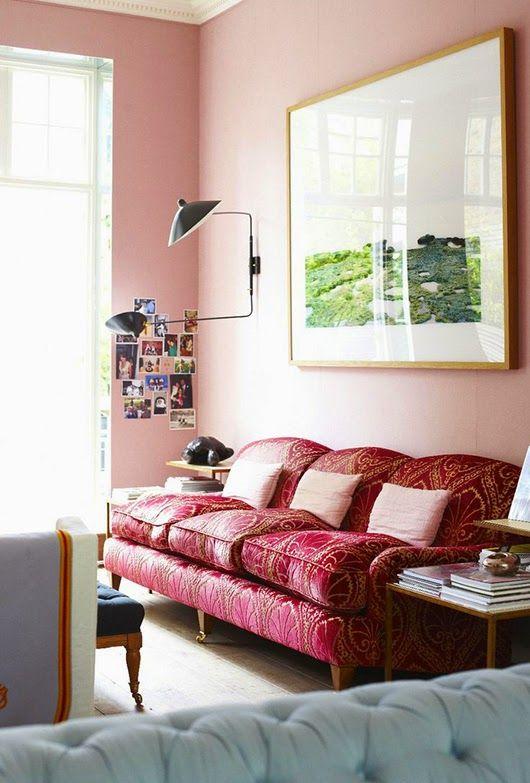 dekorasi interior ruang tamu warna pink klasik desainrumahnya also rh pinterest