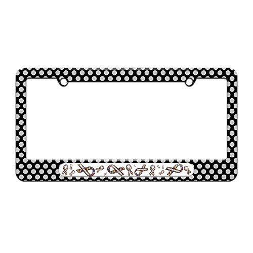 Autism Awareness Ribbons - License Plate Tag Frame - Polka Dots ...