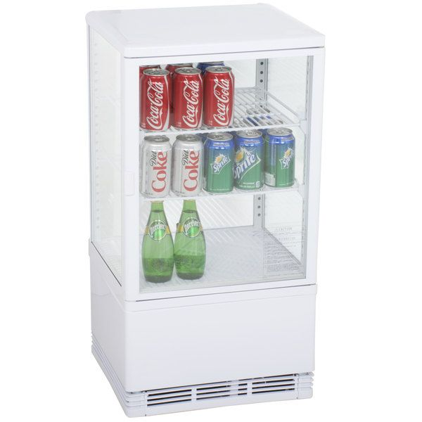 Excellence Fsg 3 White Countertop Display Refrigerator With Swing