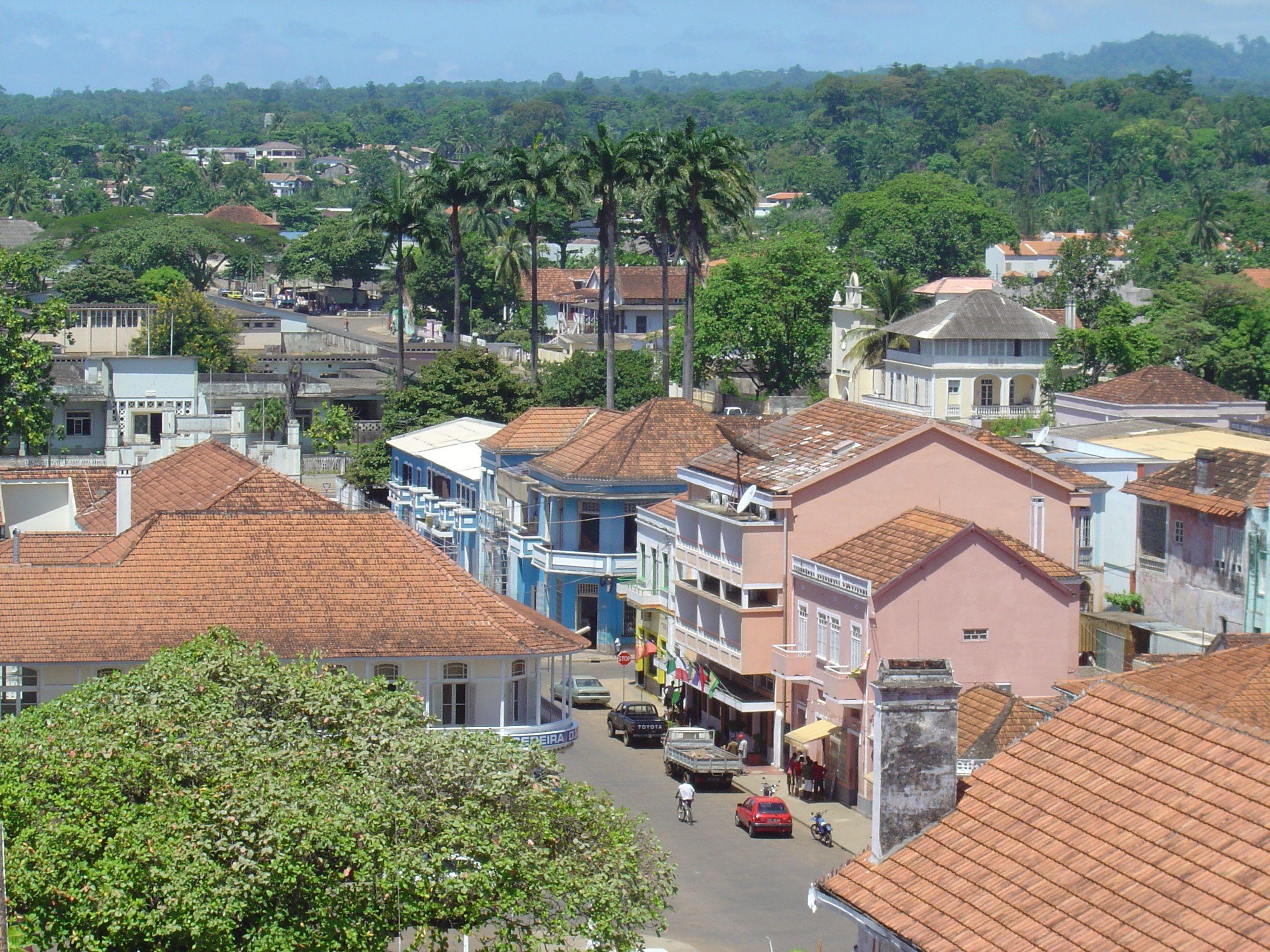 A Cidade De Sao Tome Africa
