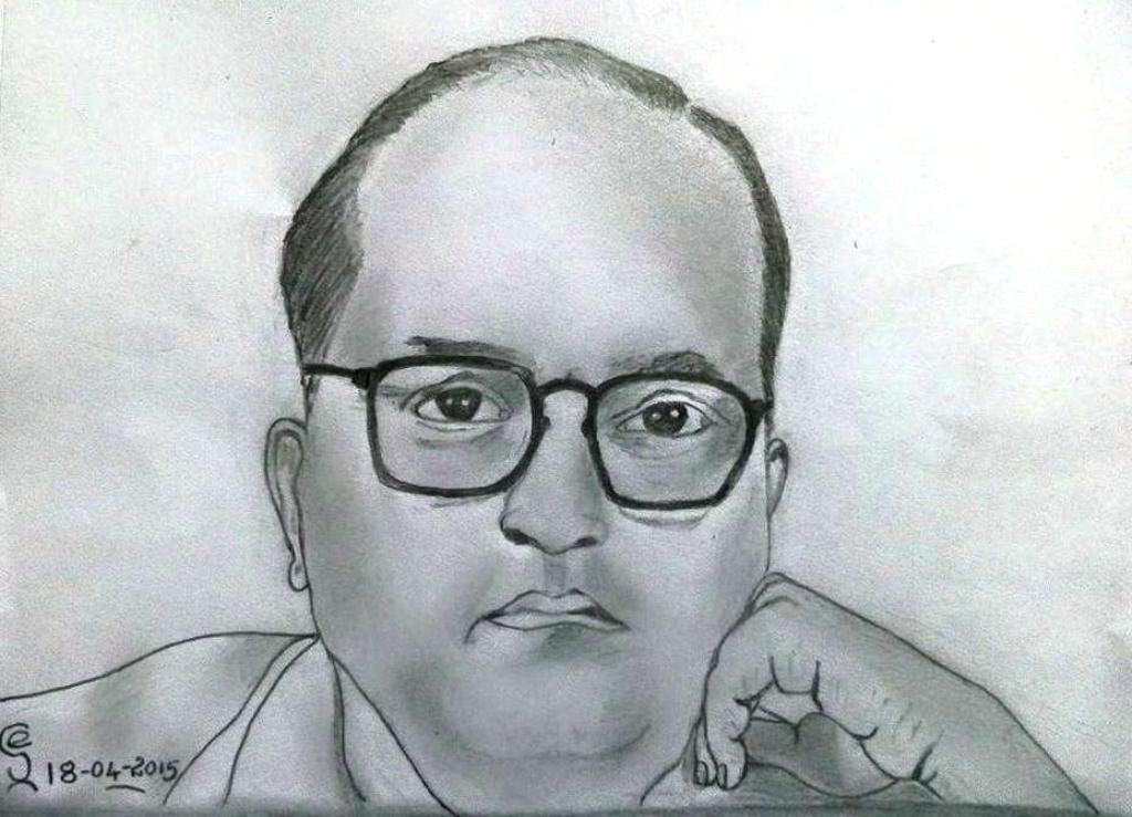 Dr Bhimrao Ramji Ambedkar   Pencil drawings, Male sketch ...