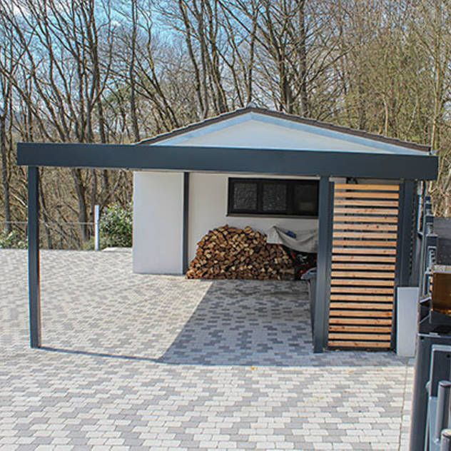 garagen schuppen bilder ideen inspirationen und bau car ports pergolas and gardens. Black Bedroom Furniture Sets. Home Design Ideas