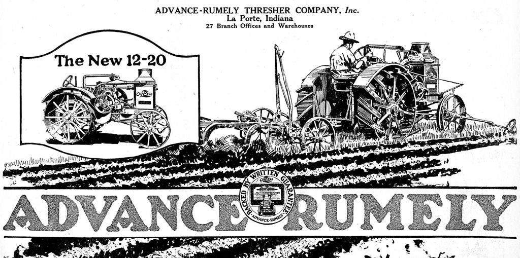 1919 Advance-Rumley Tractor
