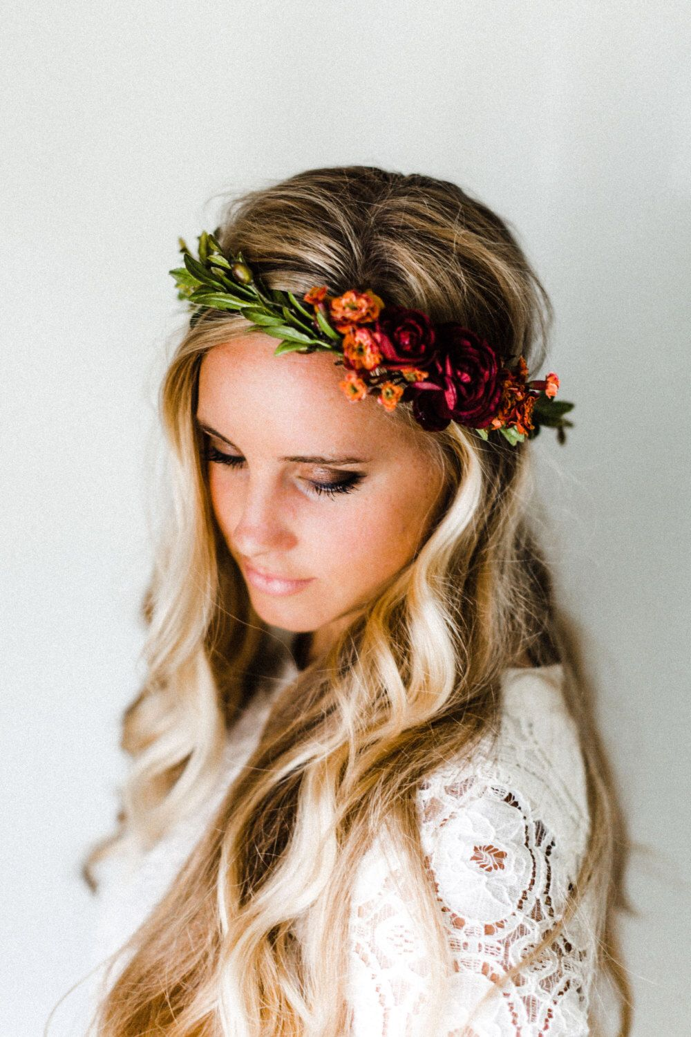 Rustic fall flower crown maternity photography pinterest fall a little homage to virginia tech at my wedding izmirmasajfo