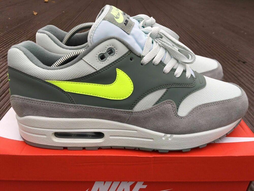 Nike Air Max 1 Mica Grey Men's Retro Trainers Premium Suede