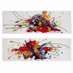 Cuadros modernos abstractos multicolor d ptico lienzo for Cuadros abstractos baratos online