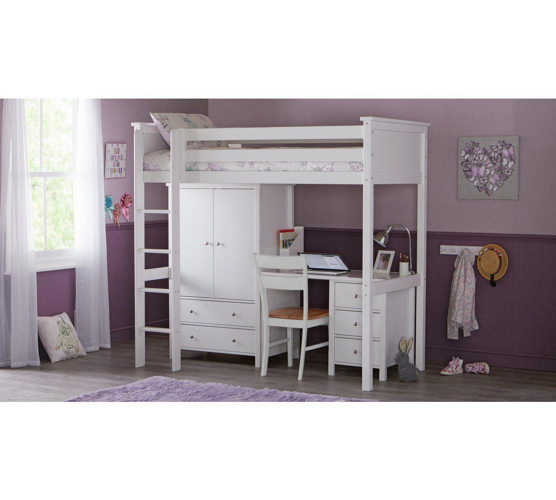 brand new 8cf11 ba193 Buy Argos Home Kingston High Sleeper Bed Frame - White ...