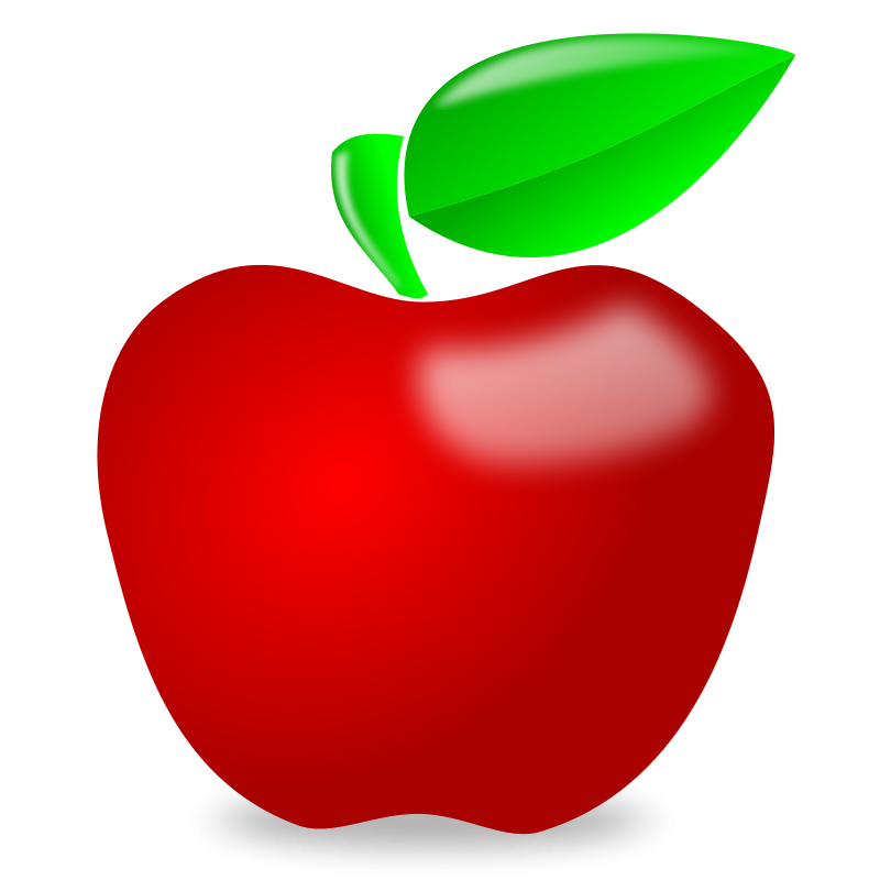 45+ Red apple clipart free ideas
