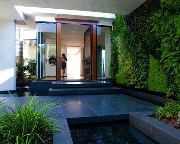 Modern Foyer Images : Vertical garden modern foyer landscape design and