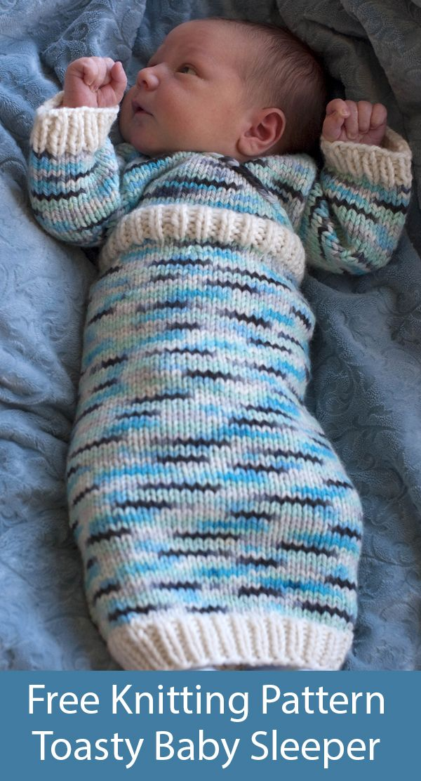 Free Knitting Pattern for Toasty Baby Sleeper