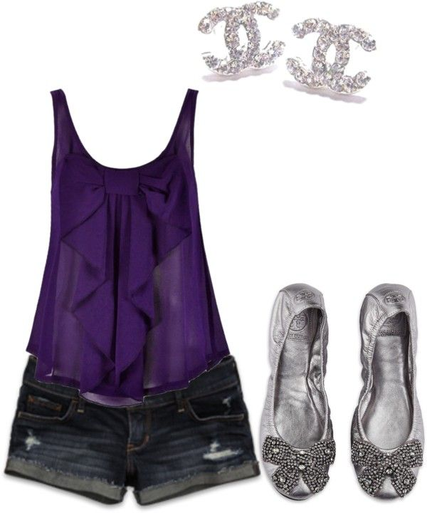 """Bows, Denim and Chanel :)"" by clojogar on Polyvore"