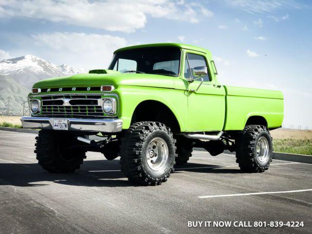 1965 Ford F250 Highboy Monster 4wd Short Bed Fresh 460 V8 All