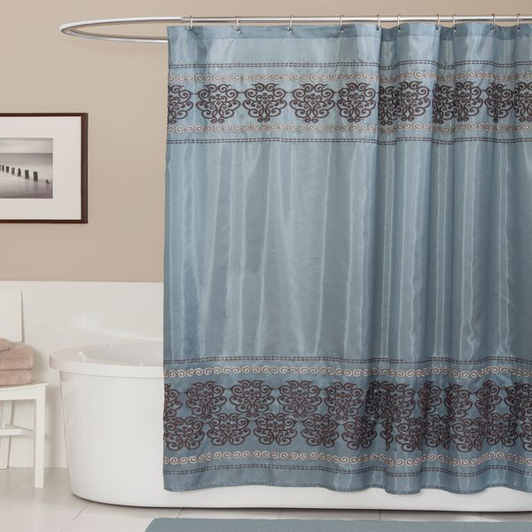Lush Decor Royal Dynasty Blue/ Brown Shower Curtain   Overstock™ Shopping    Great Deals