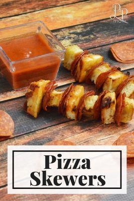 Pizza Skewers are fun to make - the kids will love them for lunch this summer!