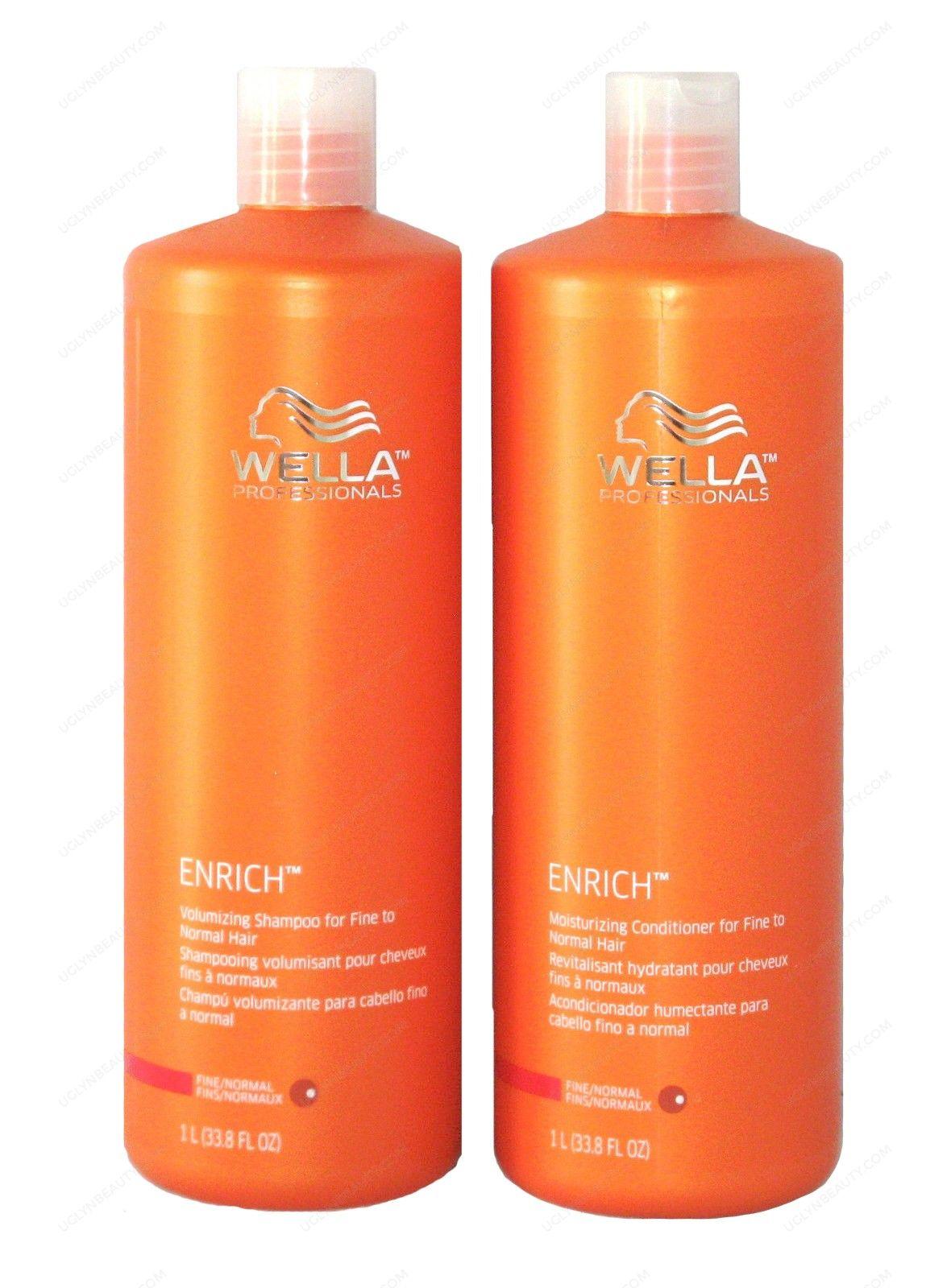 Wella Enrich Moisturizing Shampoo Conditioner for Coarse